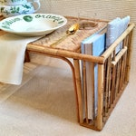 Vintage Burnt Bamboo Breakfast Tray, Serving Tray, Lap Tray