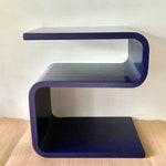 Reserved/////Vintage Cobalt Blue S-Shaped Side Table or End Table, Satin Finish