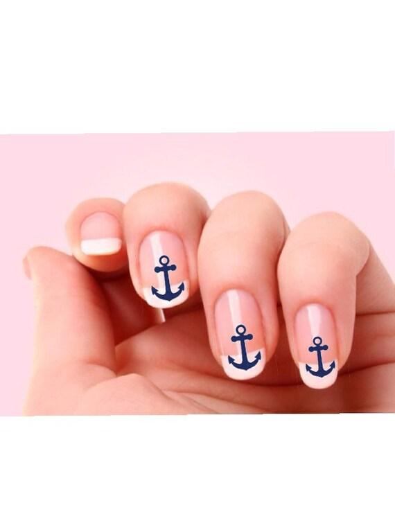 Anchor Nail Stickers Decals Nail Art Designs Nail Etsy