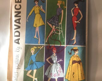 Rare, Vintage, Advance sewing pattern,  group B, Barbie Clothes,  6 patterns of 6 outfits