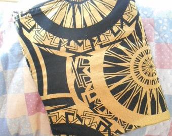 Clutch Bag of Gold an Black print