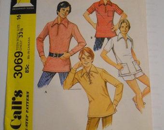 McCall's 3069    size 16   teen boys