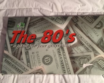 Vintage 1980's monopoly game