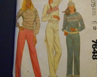 McCalls 7648, Sweats, sweatshirt, pants, size 14-16