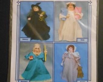 The Bottomtree Biddies, soft scupture dolls, sewing pattern