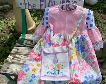 Little girls spring, summer, dress, size 4