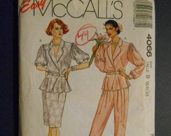 McCalls 4066, Blouse, skirt, pant,  size 12
