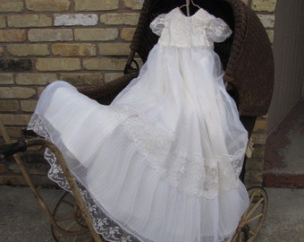 Custom made: Baby's Christening, Baptismal Gown, made from your Wedding  Dress