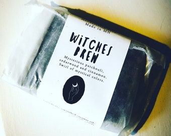 Witches Brew Bar Soap >> fall soap, activated charcoal, detox soap, witch soap, halloween, moisturizing soap, minnesota made