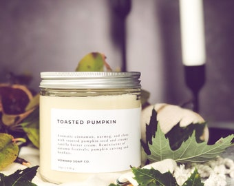 Toasted Pumpkin // soy candle, fall candle, autumn candle, minimalist decor, phthalate free, womens gift, minnesota made, pumpkin candle