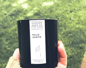Palo Santo Essential Oil Soy Candle |  Luxe Collection // nature inspired, energy clearing, handpoured, Minnesota made