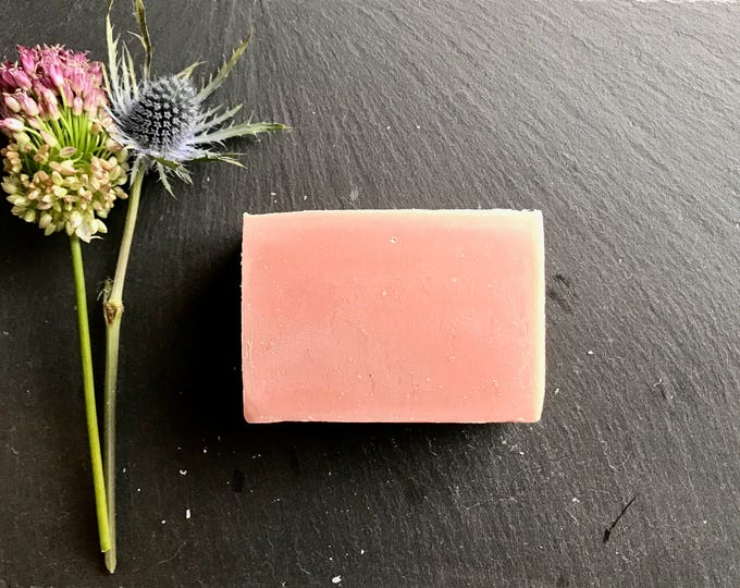 Featured listing image: Bar Soap Detoxifying Pink Clay >> /rose clay/cold process soap/natural/vegan soap/handmade/gentle/love spell type fragrance/minnesota made