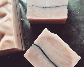 ROSE QUARTZ Luxury Scented Soap >> rose/bergamot/jasmine/sandalwood/rose clay/detox/minnesota made