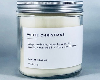 WHITE CHRISTMAS| 100% soy candle | Winter Candle | Phthalate Free