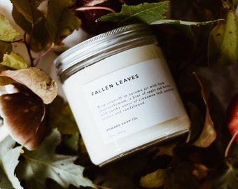 Fallen Leaves // soy candle, fall candle, autumn candle, minimalist decor, phthalate free, womens gift, minnesota made
