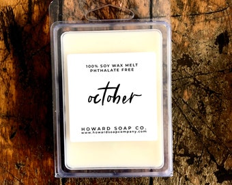 October Wax Melt // 3 OZ, soy, fall fragrance, autumn, phthalatefree, home fragrance, Nature Scent, mn made