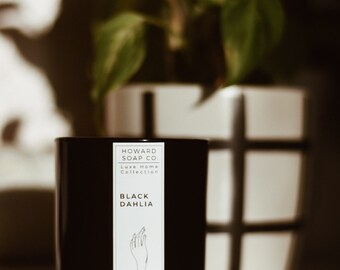 Black Dahlia Essential Oil Soy Candle |  Luxe Collection // nature inspired, woody floral, handpoured, Minnesota made