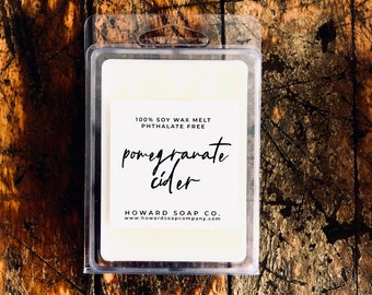 Pomegranate Cider Wax Melt // 3 OZ, soy, fall fragrance, autumn, phthalatefree, home fragrance, Nature Scent, mn made