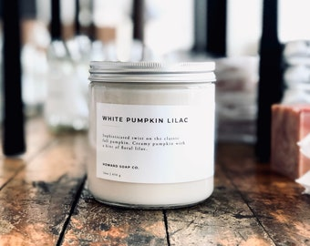 White Pumpkin Lilac // soy candle, fall candle, autumn candle, minimalist decor, phthalate free, womens gift, minnesota made