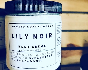 LILY NOIR BODYCREAM>> shea butter/avocado oil/minnesota made