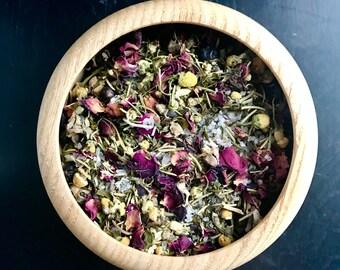 MOON BATH Bath Tea>>7 oz/botanicals/all natural/lavender/spearmint/sage/howard soap company/minnesota made