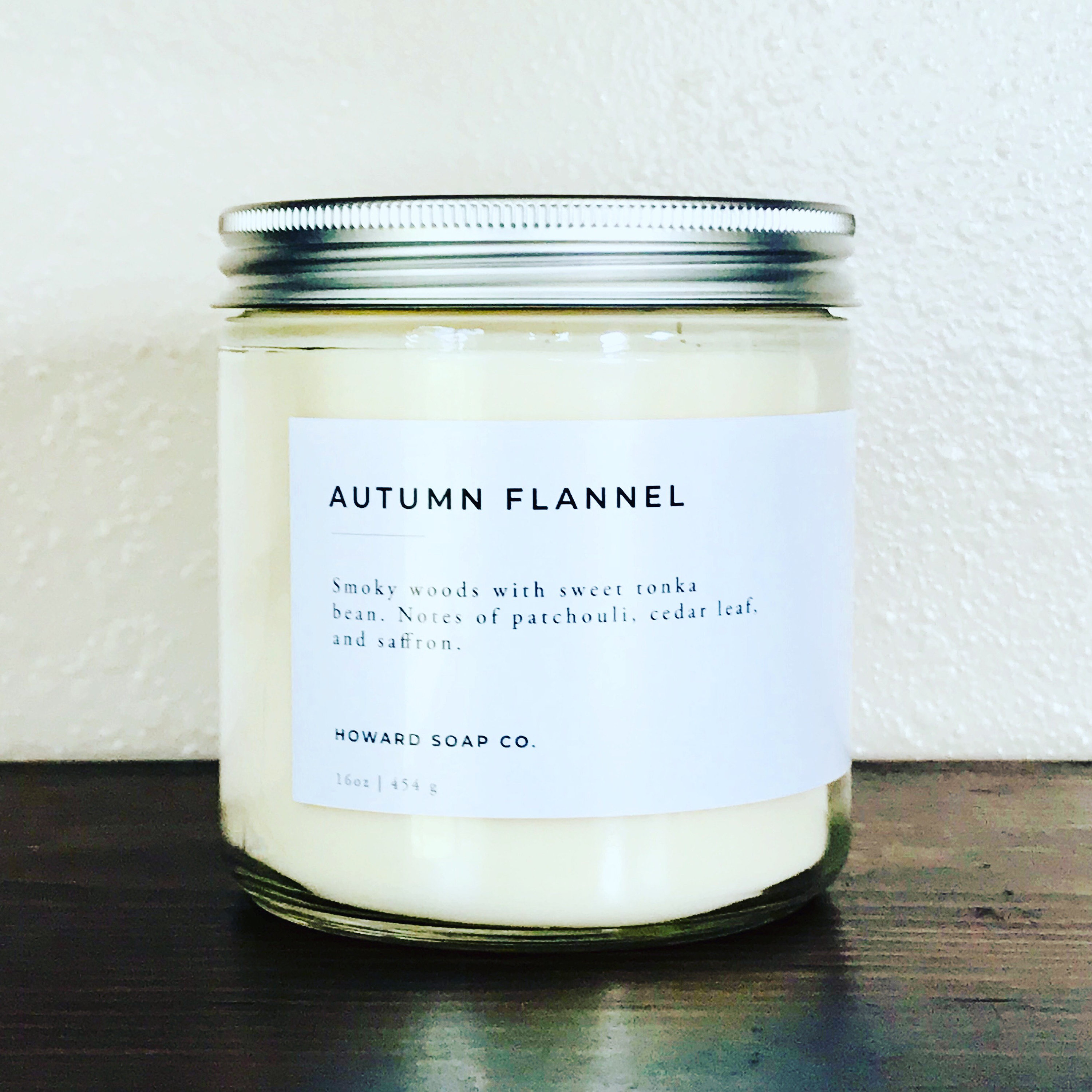 Autumn Flannel | 100% soy candle | Fall Candle | Phthalate Free