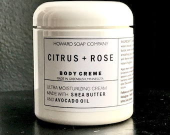 BODY CREME >> ultra moisture/body butter/howardsoapcompany/minnesota made