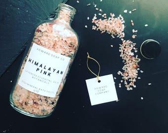 Himalayan Pink Bath Salts>> lavender essential oil/minnesotamade