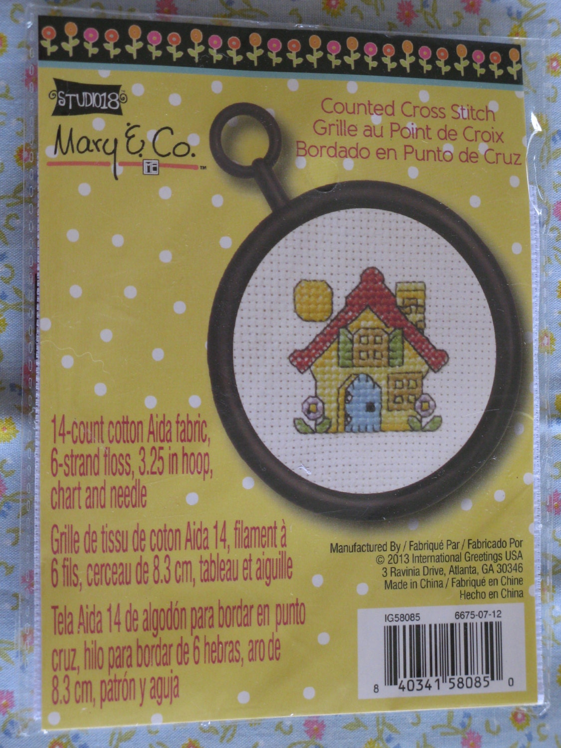 Mary Engelbreit Me Counted Cross Stitch Kit House Maison Etsy