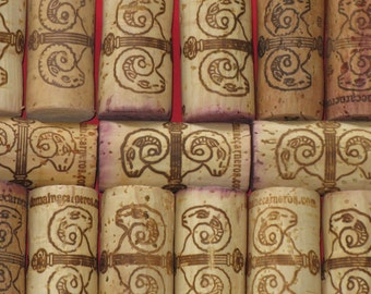 Napa Winery Domaine Carneros Real Natural Wine Corks Marked Lot of 15 Used Ram Artwork California