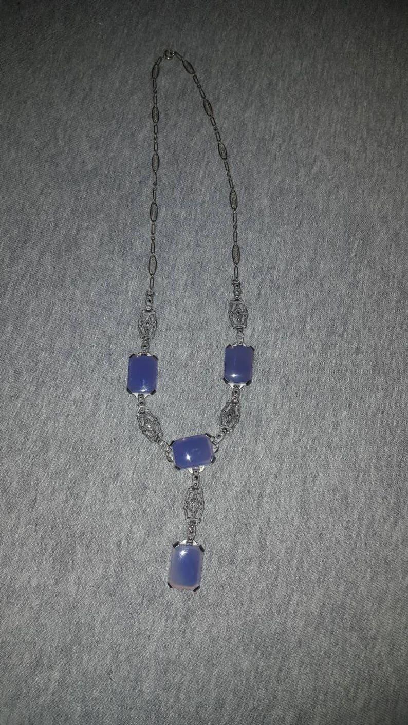 2 Wire wrapped pendants blueish tone FM50