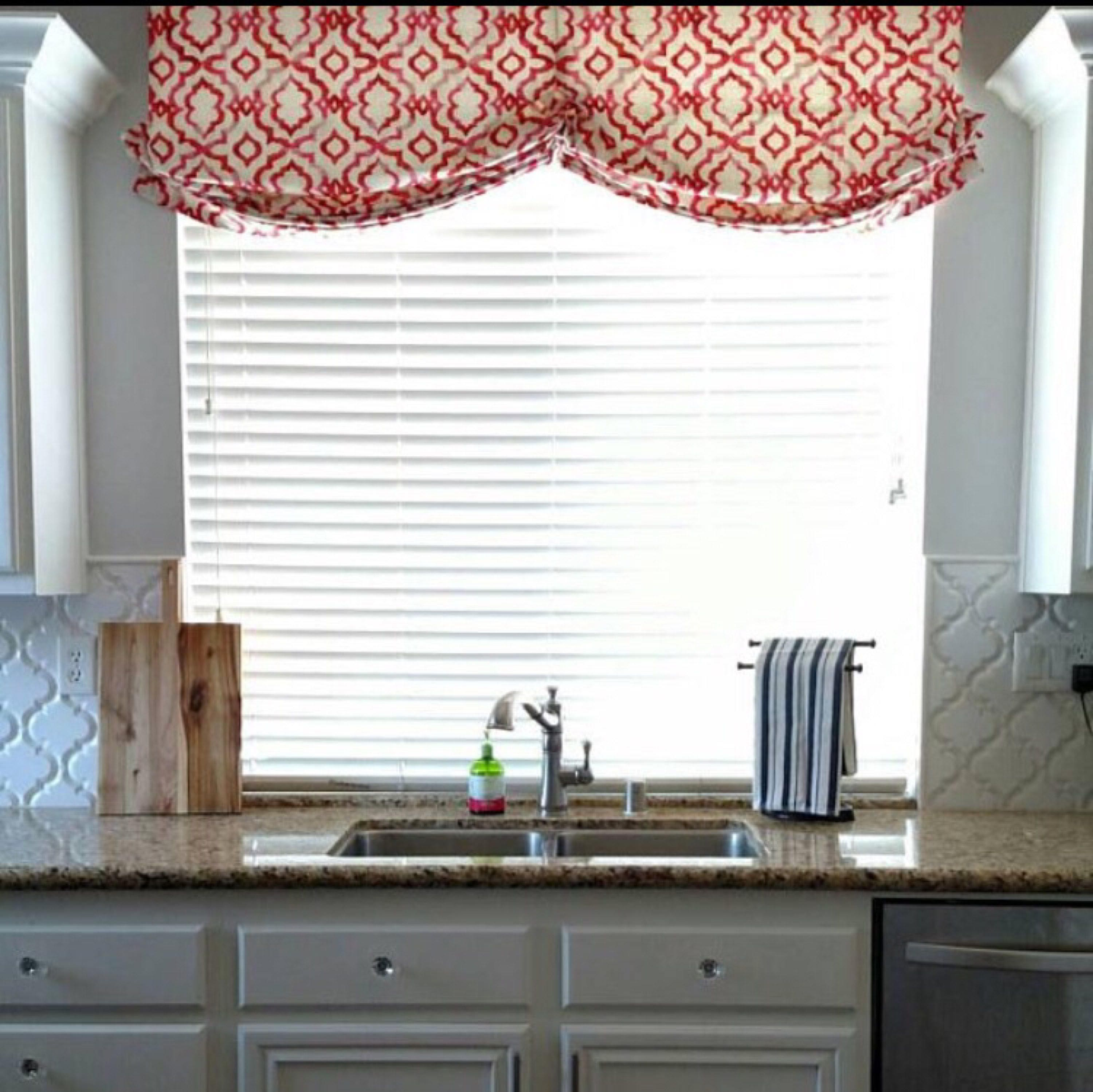 Faux Relaxed Roman Shade Valance Double Scoop Custom