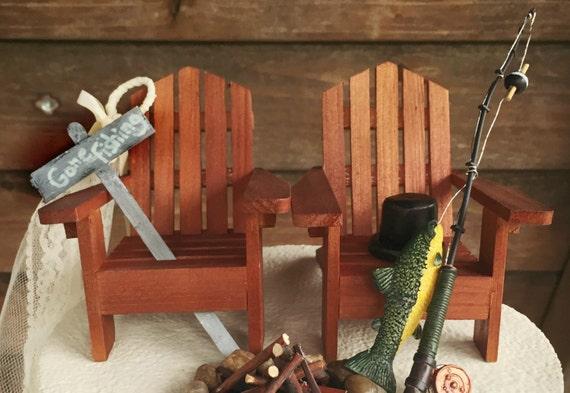 Rustic Fishing Wedding Cake Toppers Wedding Cake Topper Etsy