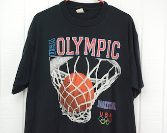 dcc1defd9b7f Vintage USA Olympic Basketball Shirt by JC Penney USA Olympic Brand Apparel  - Mens Xl