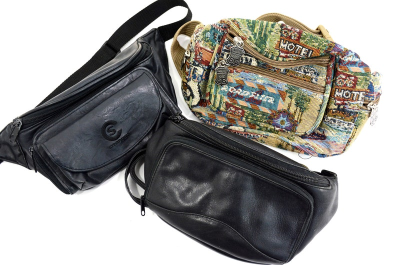 05b0dac13931a0 Vintage Black Leather Citisport Unmarked or Route 66 Hip