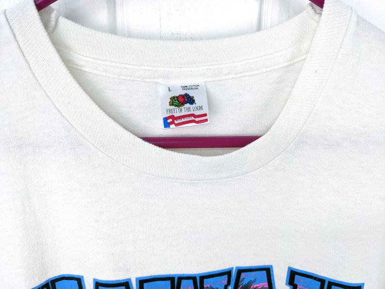 Fruit of the Loom Single Stitch Vintage 90s Hawaii Sunset Souvenir Graphic T Shirt Large 1991