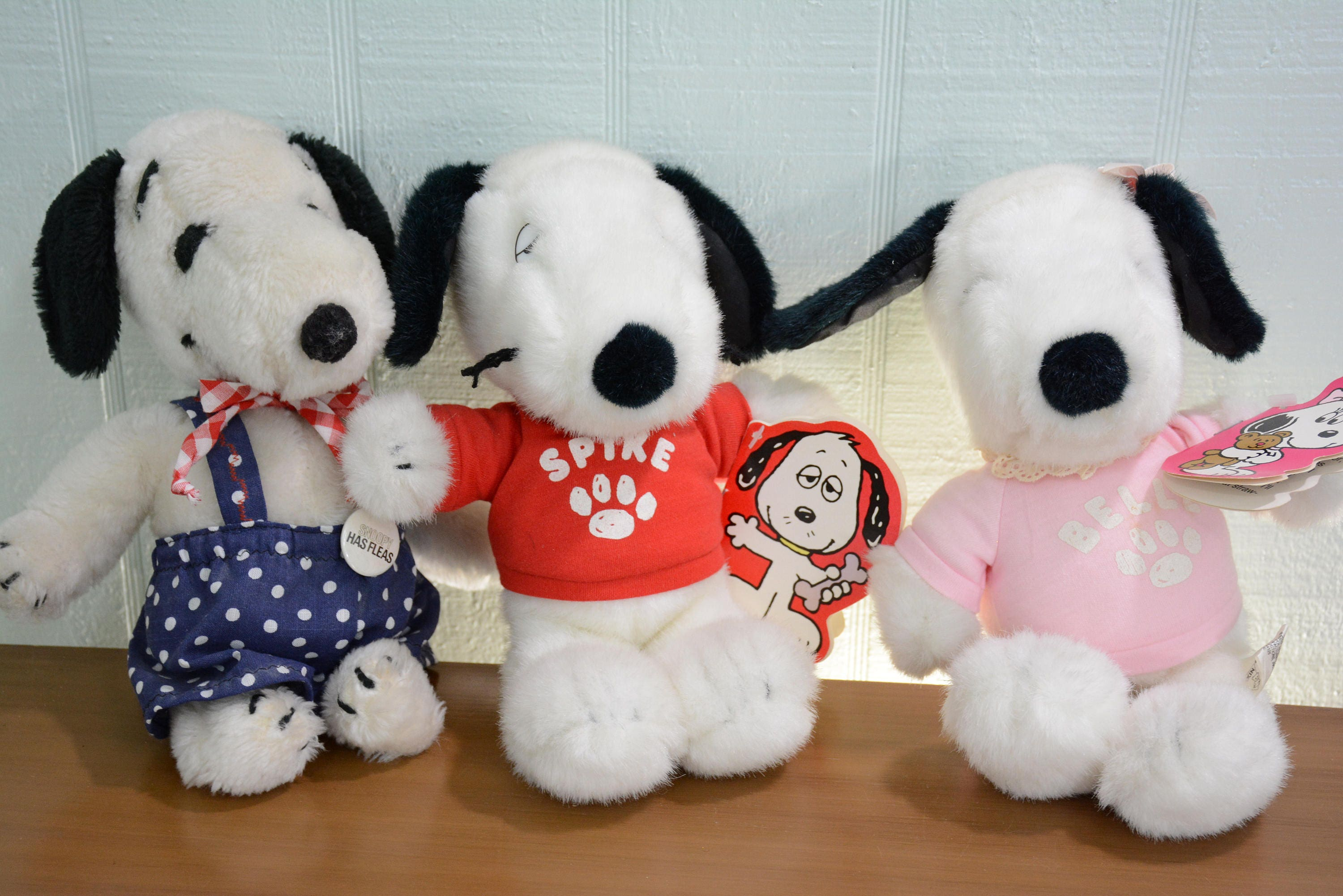 Snoopy Plush Lot Belle Spike And Snoopy Dakin New With Etsy