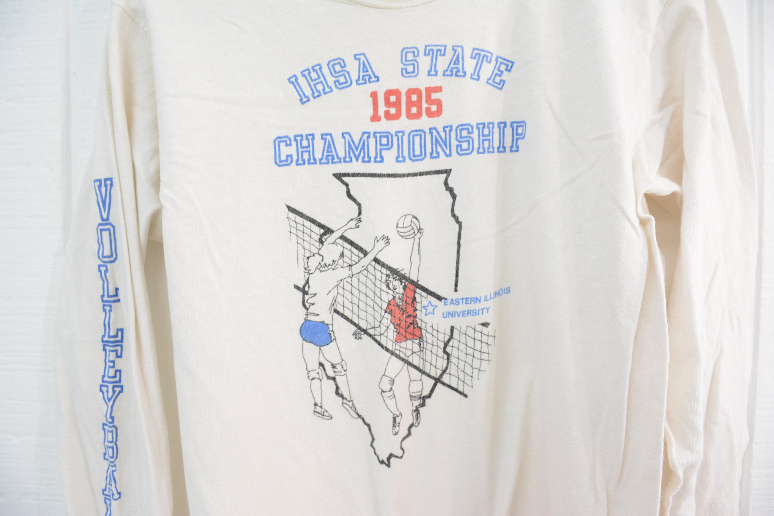 33142e549d2 Vintage 1985 IHSA Volleyball Championship Long Sleeve Shirt