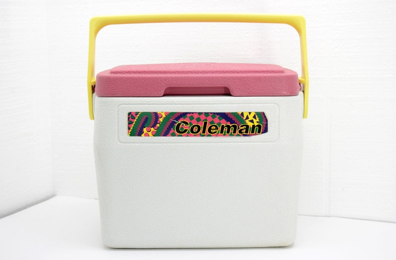 Vintage Coleman Coolers - Model 5272 Personal Lunch Box Size, Picnic for  Two, Beach, Green Yellow, Retro 90's Style, 1990s Accessory