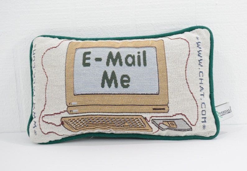 Original Hipster Pillow Email Me Desktop Computer Decorative Etsy