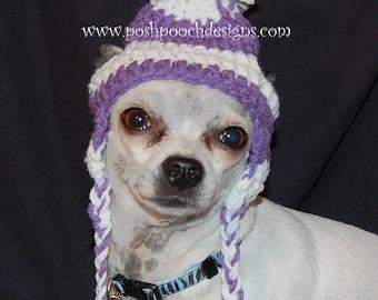 Earflap Dog Hat Custom made for Dogs 2-15 lbs Chihuahua hat - Dog Beanie e9ca7b7aaa8