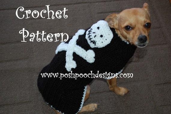 Instant Download Crochet Pattern Skull And Crossbones Dog Etsy