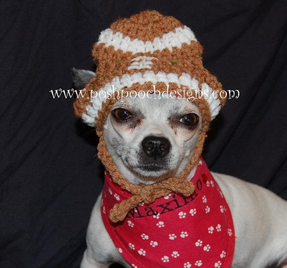 bd067f5ce6a Football Custom Dog Hat Small Dog 2-15 lbs Small Dog Beanie