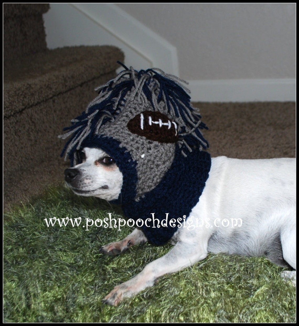 Mohawk Dog Snood Hooded Cowl Instant Download Crochet Pattern Etsy