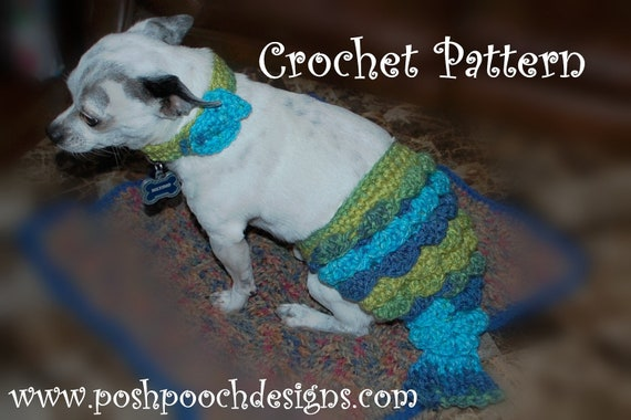 Instant Download Crochet Pattern Mermaid Dog Tail And Fishy Etsy