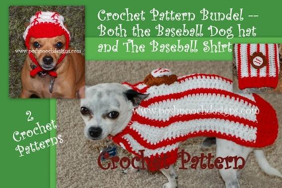 Instant Download Crochet Pattern Bundle Baseball Dog Hat Etsy