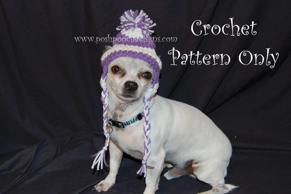 Instant Download Crochet Pattern Earflap Dog Hat Small Dog Etsy