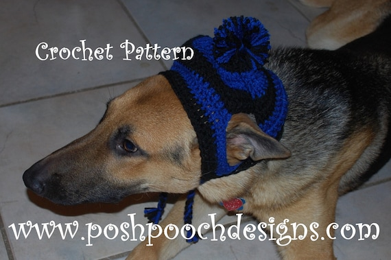 Instant Download Crochet Pattern Large Dog Striped  fc98d782c97