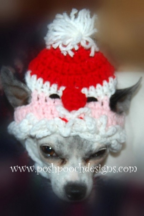 Instant Download Crochet Pattern Santa Claus Dog Hat Small Etsy