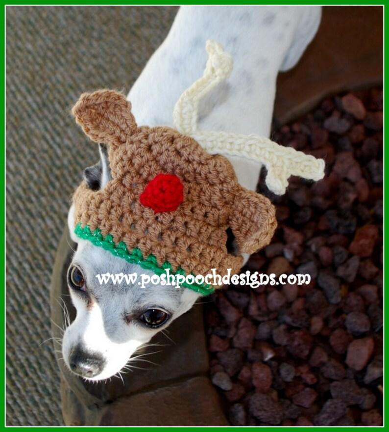 8a364f4aa8f Reindeer Dog Hat Christmas Dog Beanie dog hat 2-15lbs